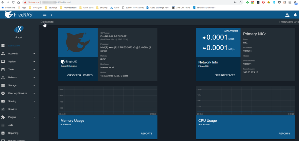 Running FreeNAS on Azure – Architecting the future